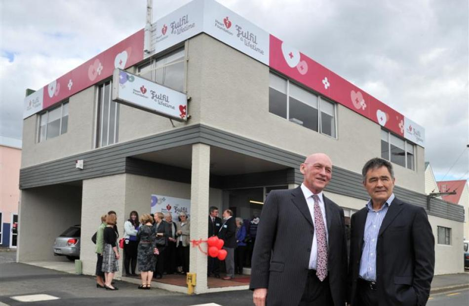 Heart Foundation chief executive Tony Duncan (left) and Dunedin Mayor Dave Cull at the opening of...