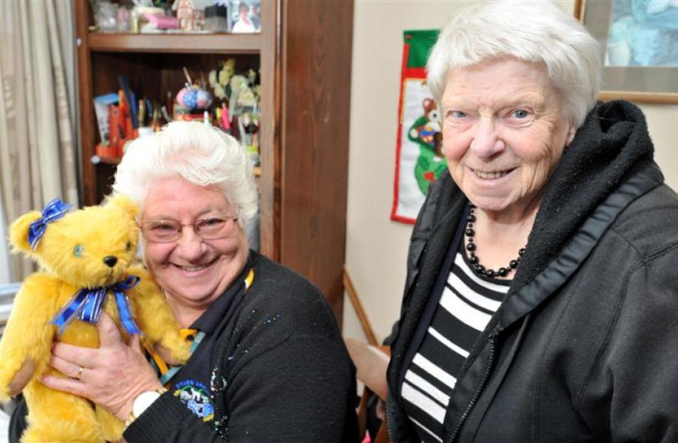Heather Fisher (left) and Bev Rodgers, of the Mid Otago Federation of  Women's Institutes, show...