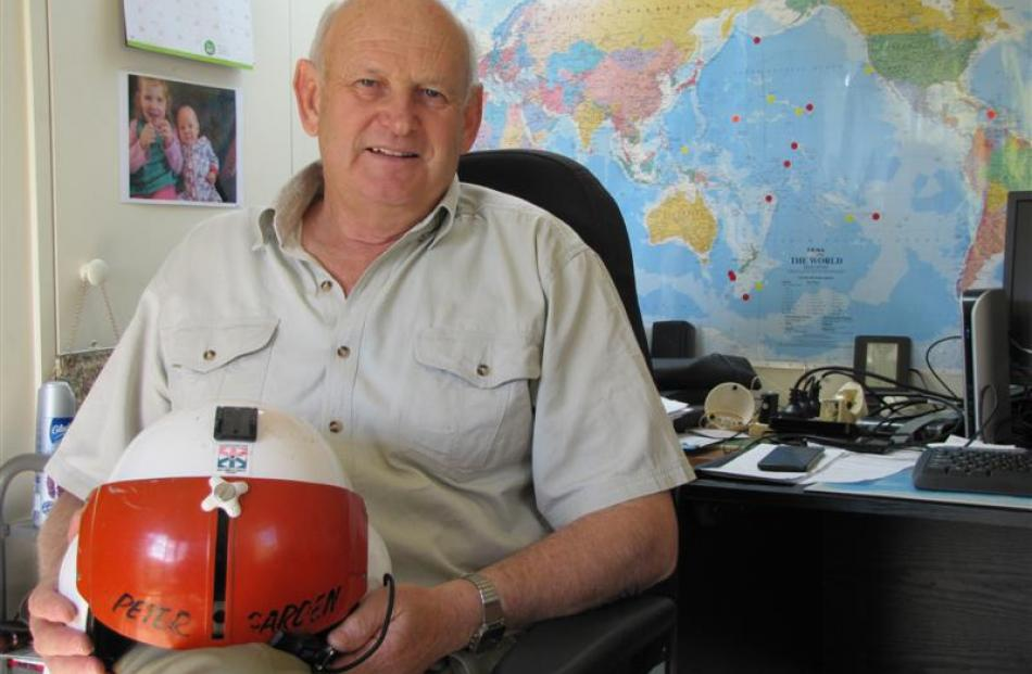 Helicopter pilot Peter Garden, of Wanaka, prepares for an autumn in the south Atlantic. Photo by...