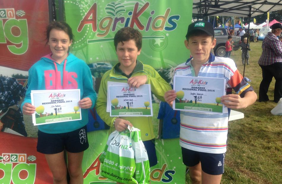 Hinds Agris team (from left) Ella Yeatman, William Ward and Hayden Jefferson, of Hinds School,...