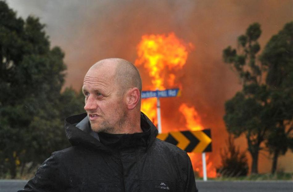 Homeowner Alan Stout, who opted to stay and protect his house. Photo Christine O'Connor