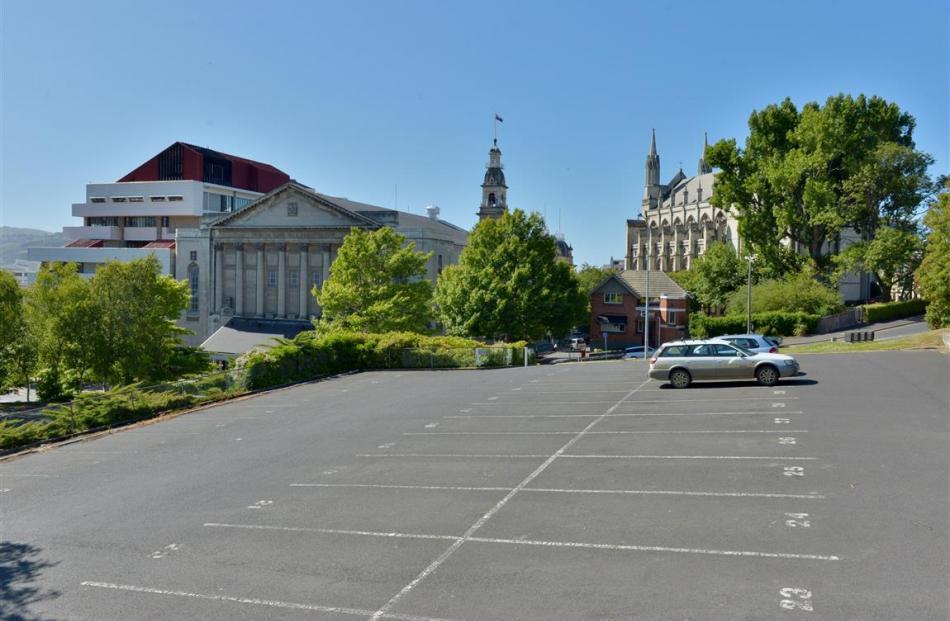 Hotel site? The Filleul St/Moray Pl car park. Photo by ODT.