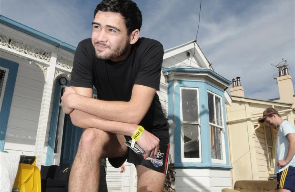 Hyde St resident Josh Tiro (19) says the annual party is all about having a good time while...