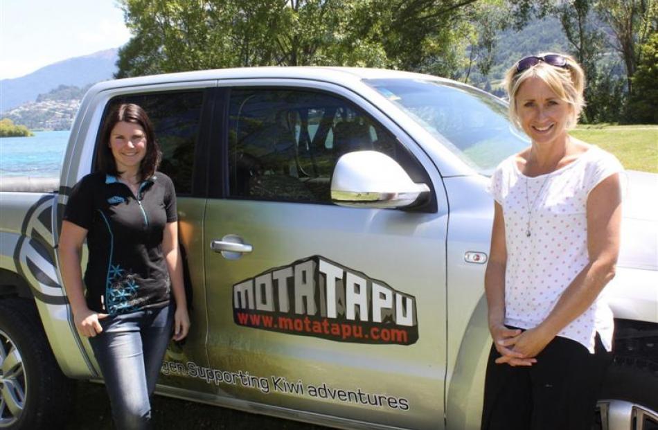 Icebreaker Motatapu Off-Road Marathon event manager Gemma Boyle (left) with Olympic gold...