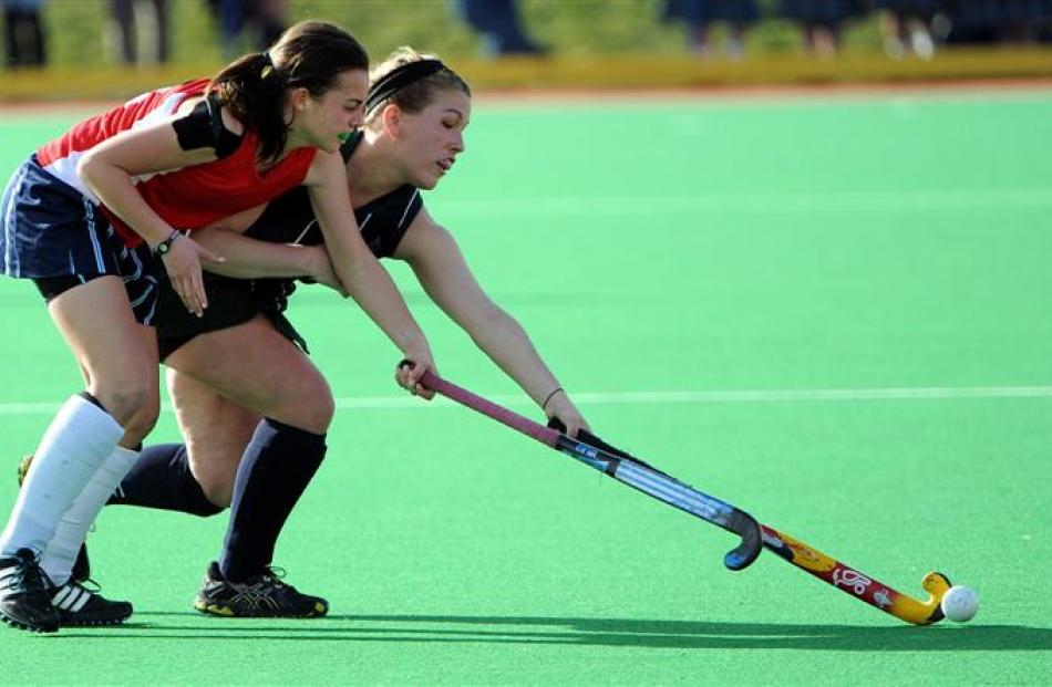 Images from the final of the Marie Fry secondary schoolgirls hockey tournament in Dunedin last...