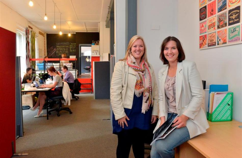 Immersion Marketing's marketing department manager Annabel Roy (left) and managing director Sarah...