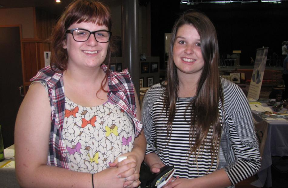 India Hughes (17) and Charlotte Jolly (17), both of Wanaka.