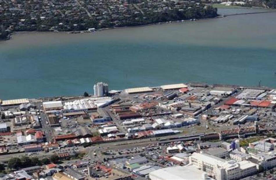 Industrially zoned land in Dunedin is due for some changes.  Pictured is the harbourside...