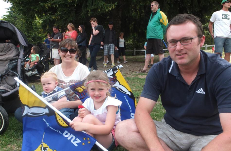 Invercargill family: Stacey McNamara, Bryn Smith (15 mths), Cerys Smith (5) and Richard Smith.