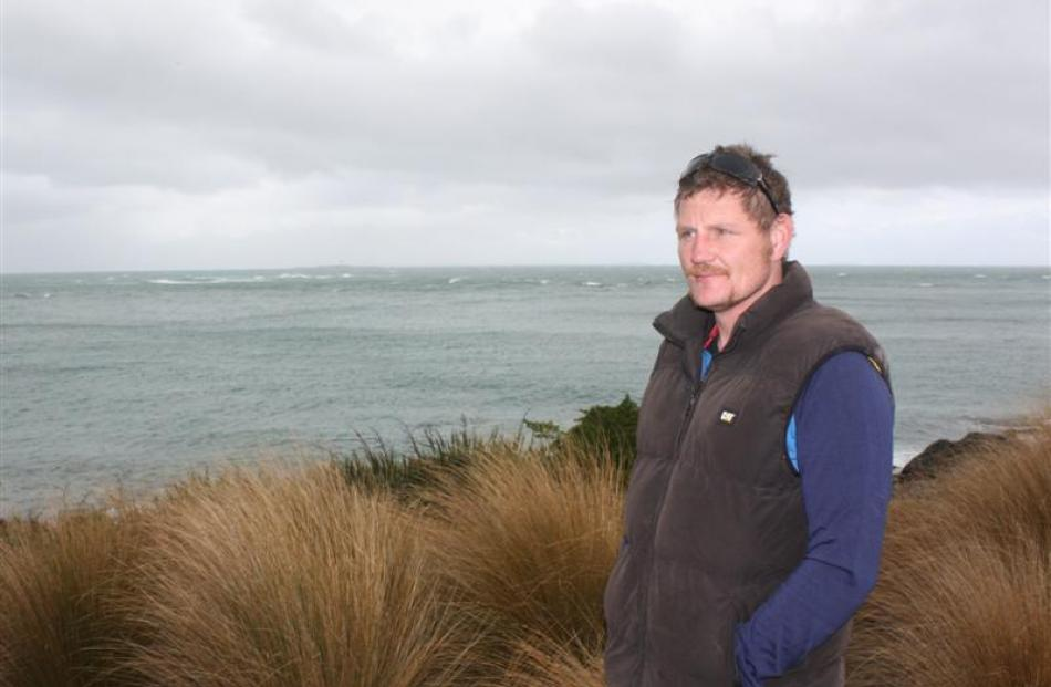 Invercargill truck driver Leon Harrison at Stirling Point, near Bluff, where he wants to erect a...
