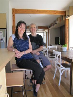 Jac and Gavin George, of Wanaka, in their new passive energy house.