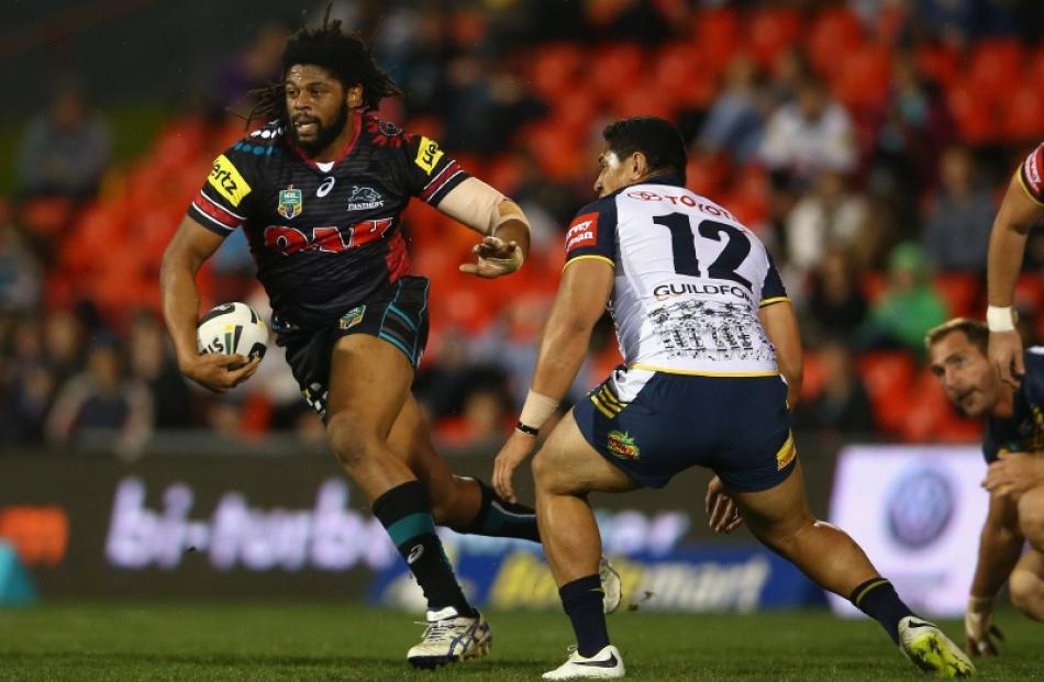 Jamal Idris in action for the Penrith Panthers in 2014. Photo: Getty Images