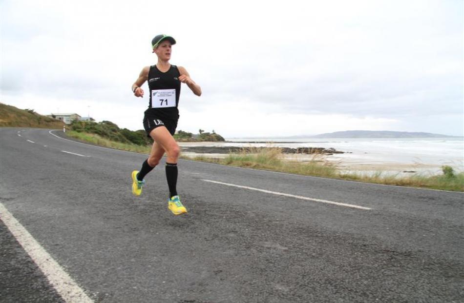 Jason Palmer leads the half marathon.