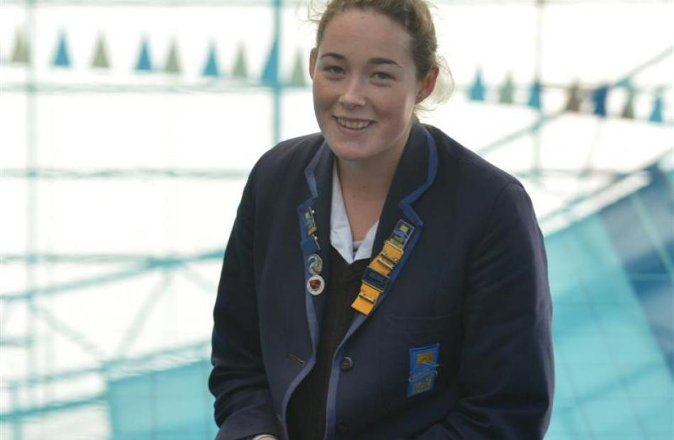 Jayne Beattie (17) at Taieri College before heading away to compete at the International...