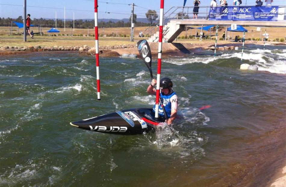 Jess Bailey (17) takes silver in the kayak at the Australian Youth Olympics. Photo supplied.