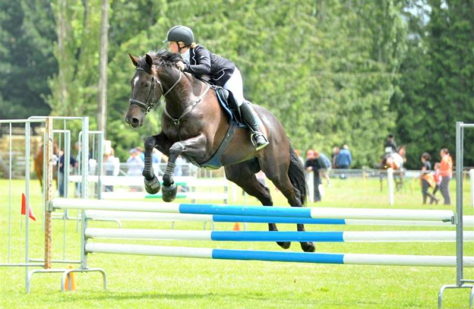 Jess Paul competes on Kuriwao Hawke at the 149th annual Tokomairiro A&P Show in Milton, on...