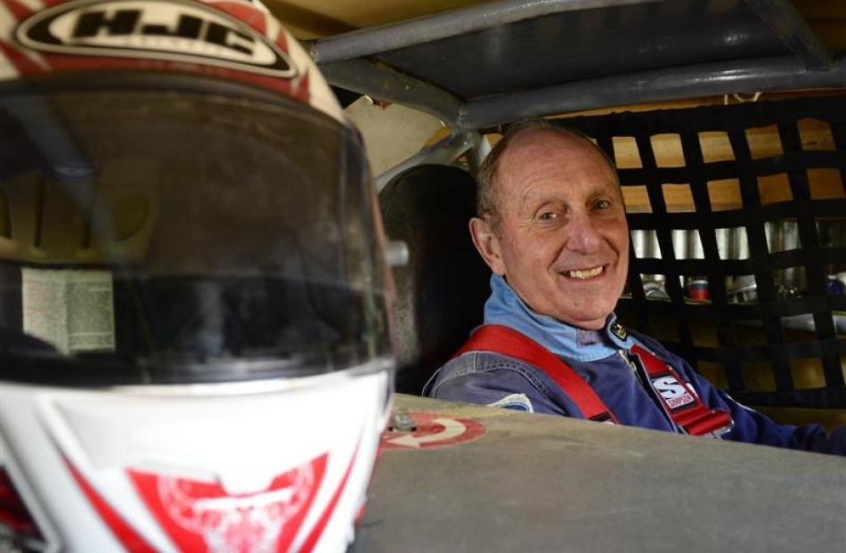 Jim Holley in his stock car. Photos by Peter McIntosh.