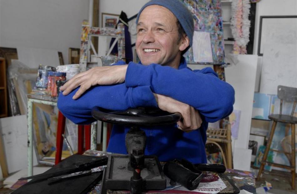 John Z. Robinson in his Stuart St studio. Photo by Gregor Richardson.