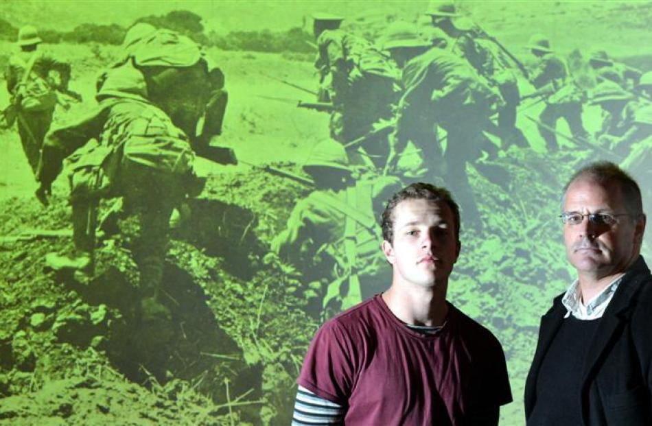 Joseph Brosnahan and his father Sean Brosnahan retraced the footsteps of Otago soldiers in World...