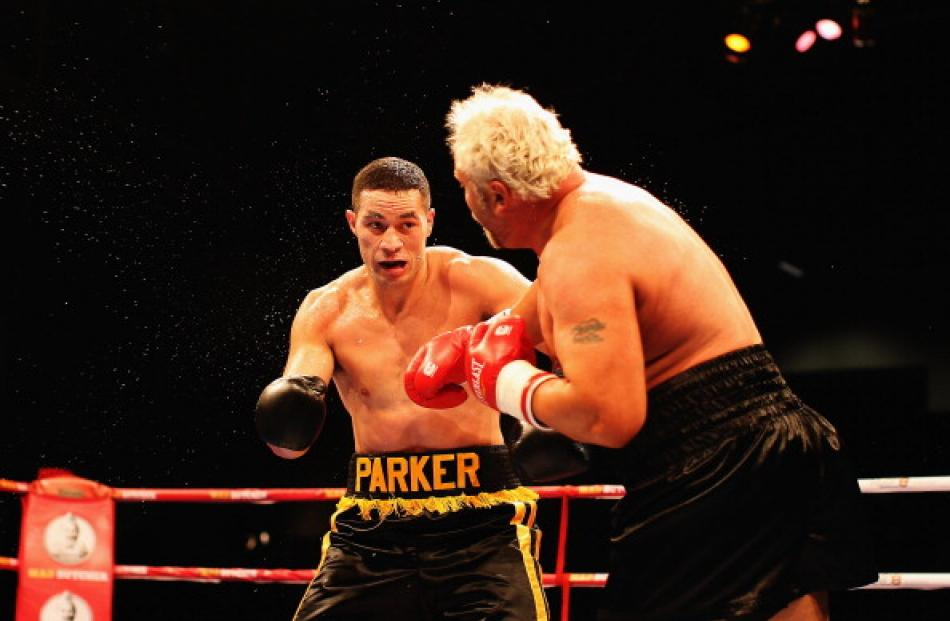 8b7f8c54c34 Joseph Parker of New Zealand takes on Francois Botha of South Africa in a  heavyweight title