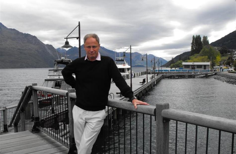 Journeys director Tony McQuilkin  at O'Regan's Wharf yesterday.  Photo by Olivia Caldwell.