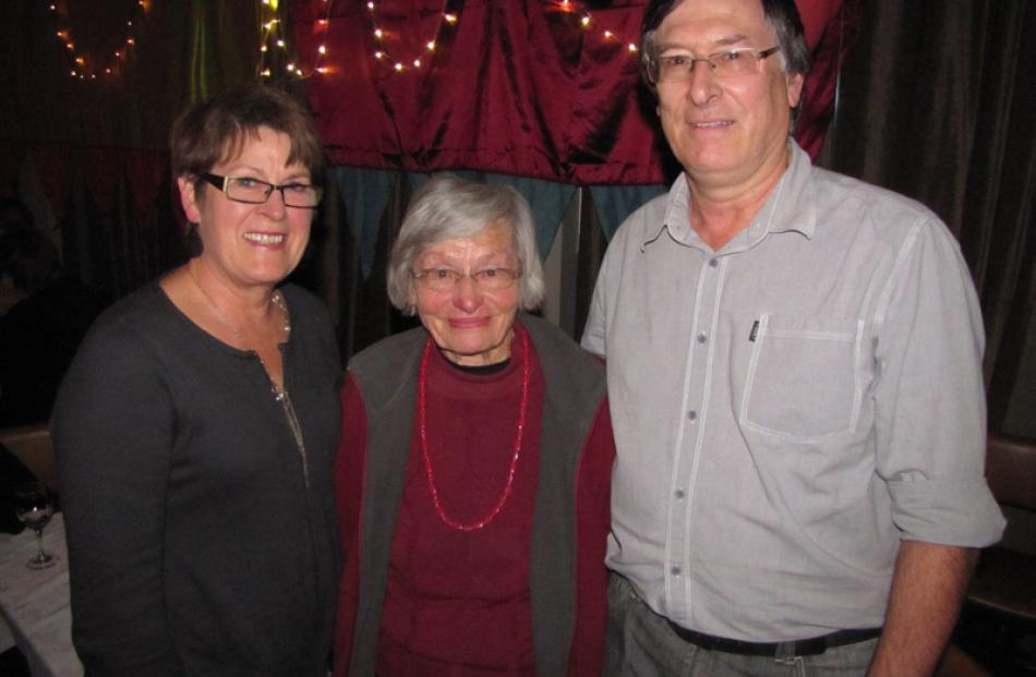 Judy Morrison, of Dunedin, Cicely Morrison, of Arrowtown, and Neil Morrison, of Dunedin.