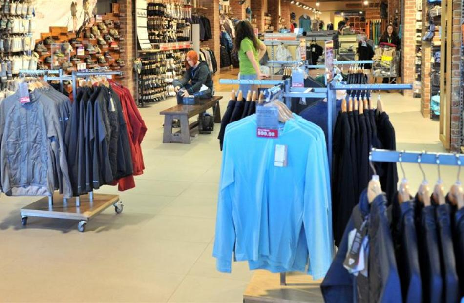 Kathmandu's Dunedin store; which along with the company's  139 outlets around the world will be...