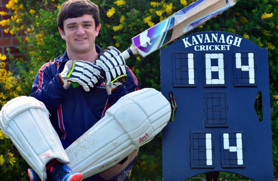 Kavanagh College first XI batsman Liam Eathorne blasted 184 runs from 58 deliveries during a...