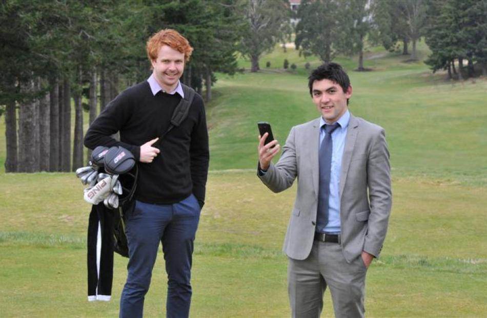Kieran Patchell (left) and Daniel Howe are developing a golf-scoring app which has already...