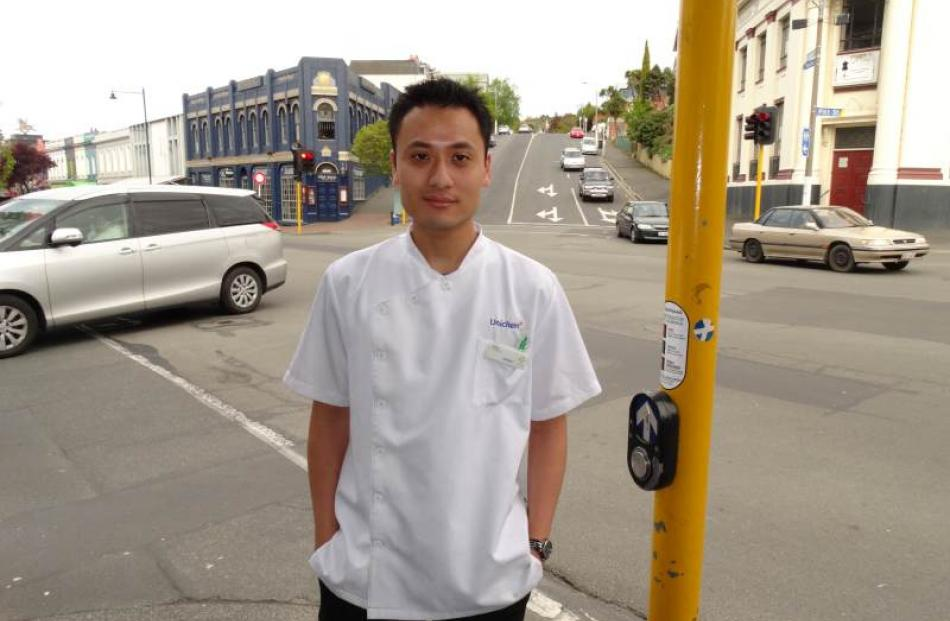 Knox Unichem Pharmacy dispensary manager Shin Wei Chan says the George St-London St intersection...