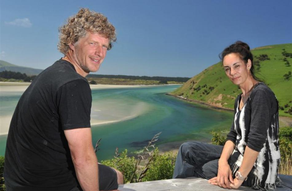 Kyle Davidson and Rachel Duell rarely get time to enjoy the view from their property on Papanui...