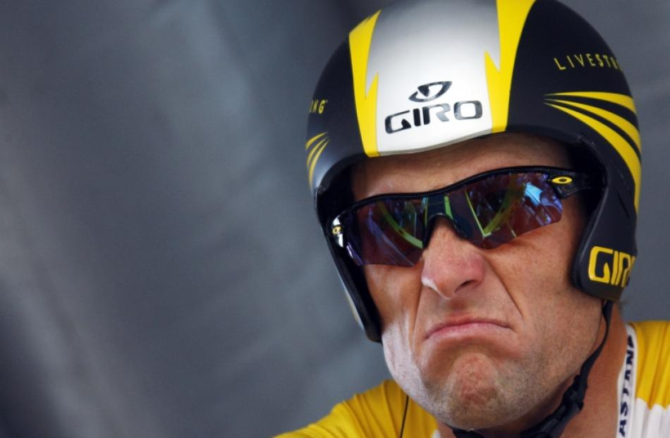 Lance Armstrong. Photo by Reuters