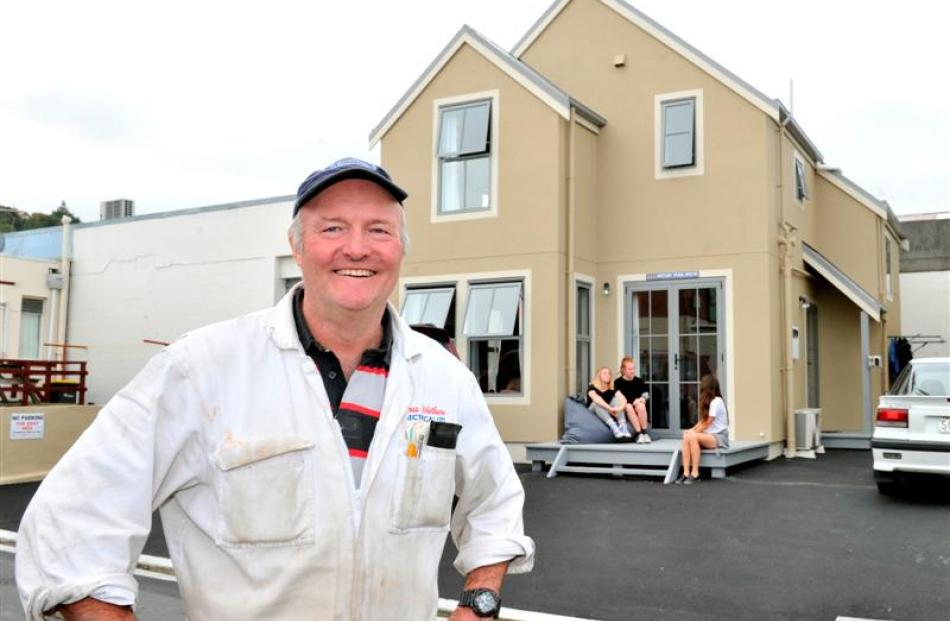 Landlord Ross Whitburn is pleased with the result of Rotary Park House, his latest student flat...