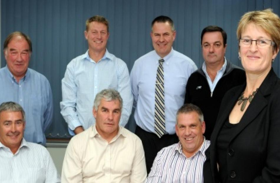 Last year's Otago rugby Union board members from top left clockwise, Adrian Read, Simon Spark,...