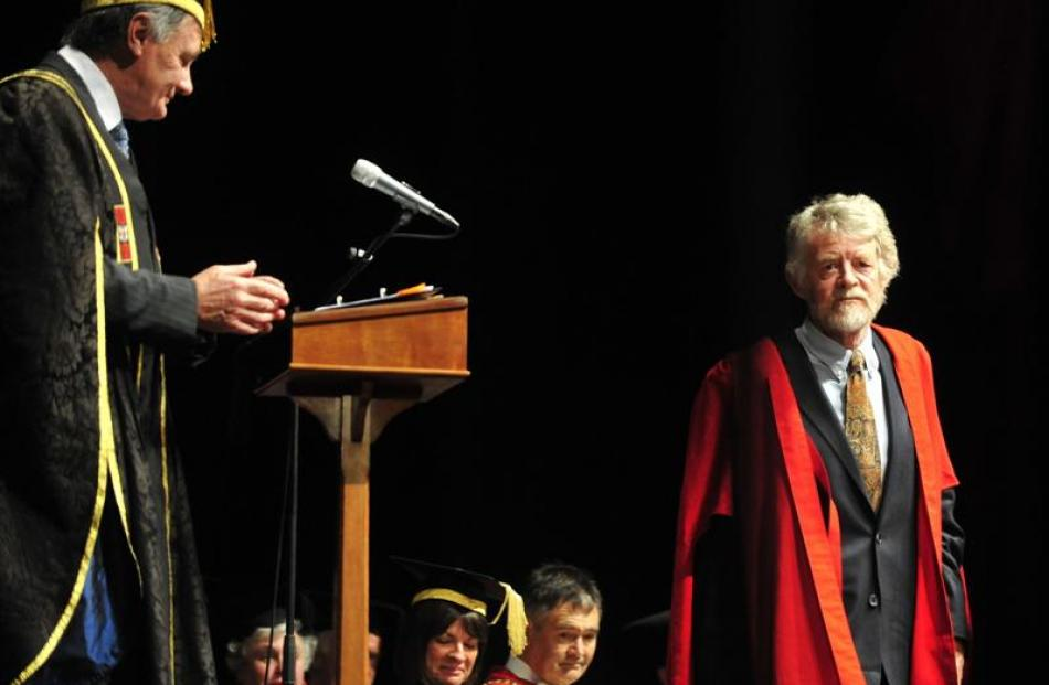 Leading New Zealand poet Brian Turner is awarded an honorary doctor of literature degree by...