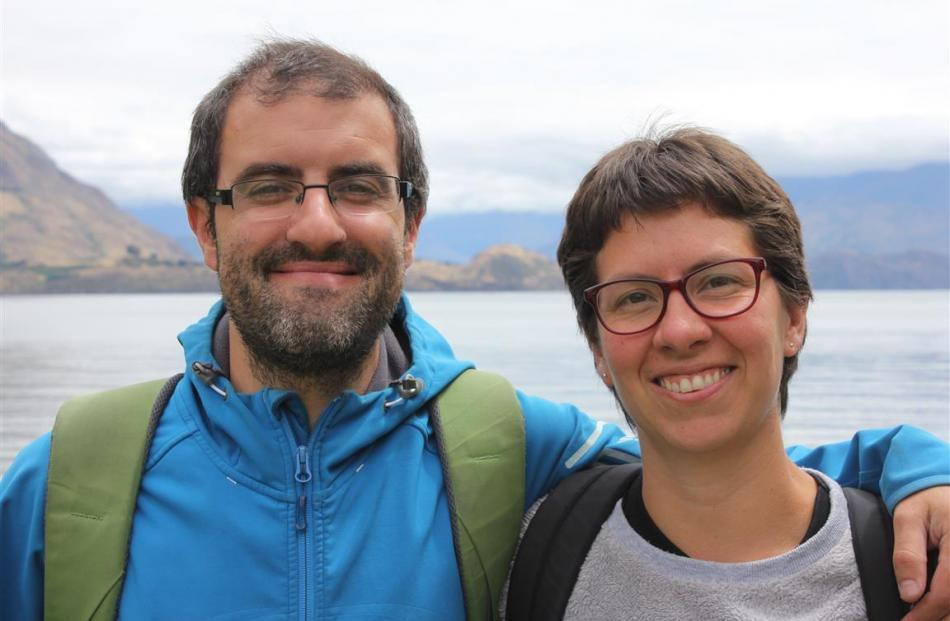 Leandro Baud, of Argentina, and Marcelilla Pilla, of Colombia, have spent the past two years...