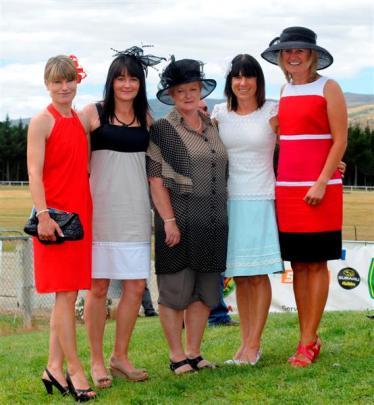 Leda Gunn (left), of Coal Creek, Anne Johnston, of Dumbarton, Donna Parker, of Roxburgh, Trudie...