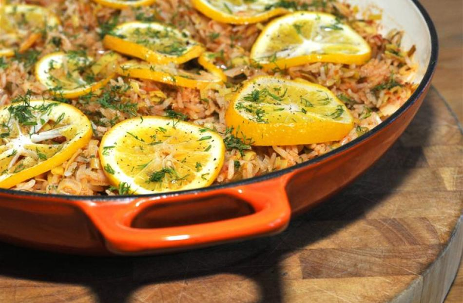 Leek pilaff is a versatile dish. Photo by Gregor Richardson.