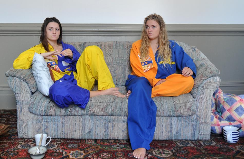 Lily Adsett (left) and Jamie Constable at their Castle St flat. Photo: Christine O'Connor