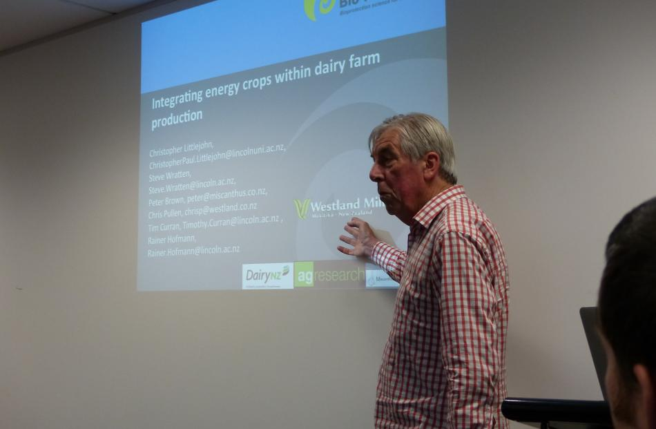 Lincoln University ecologist Prof Steve Wratten speaks at the Geographically Appropriate...