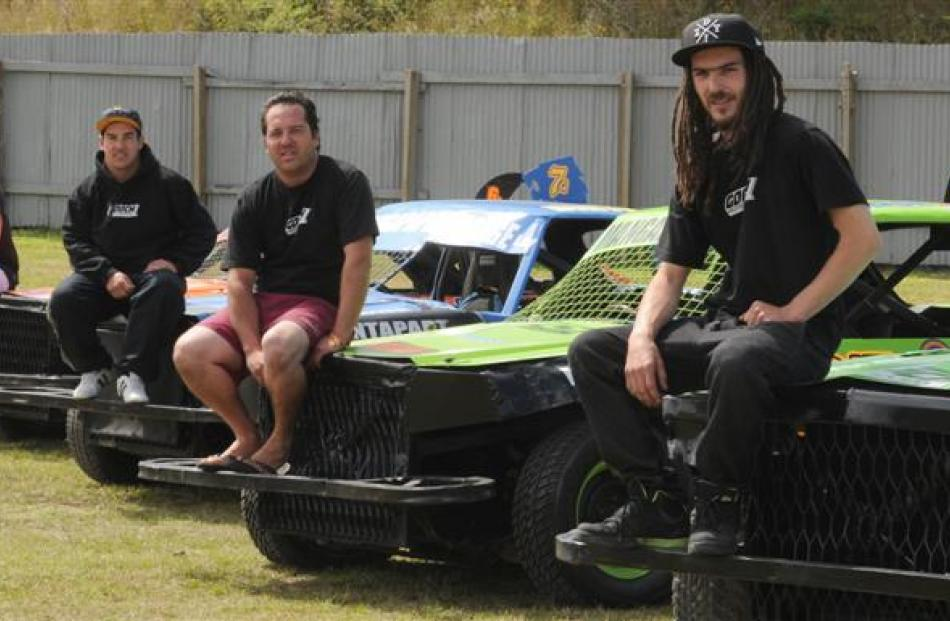 Lining up to compete at the New Zealand streetstock championships at Beachlands Speedway this...