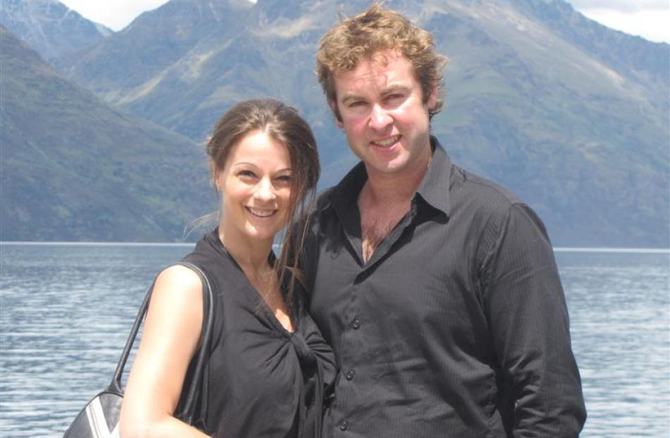 Lisa and Hayden Cosgrove, of Queenstown, winners of the competition to re-celebrate their wedding...