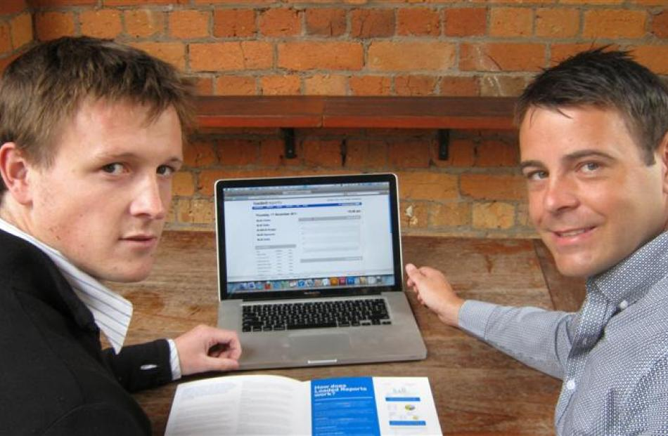 Loaded Reports general manager Stu Munro (left) and chief executive James Arnott use the cloud...