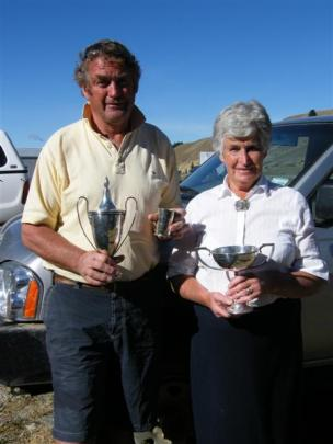 Lowburn Collie Dog Club president Peter Morton and secretary Claire Davis at the beginning of the...