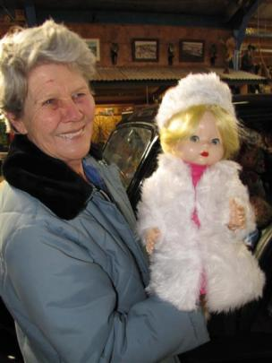 Lyn Rhodes, of the National Transport and Toy Museum, displaying one of the dolls she has...