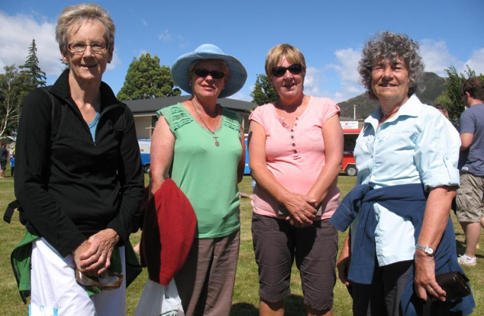 Lyne Carlyle of Warrington, Rae Holtom of Helensburgh, Lyn Hastie of Warrington, and Rosalie...