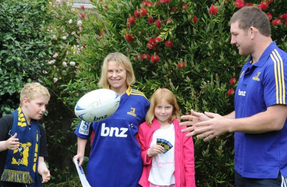 Lynnette Scott and son Sam Thompson (11) and daughter Sarah Thompson (9) with the spoils of the...