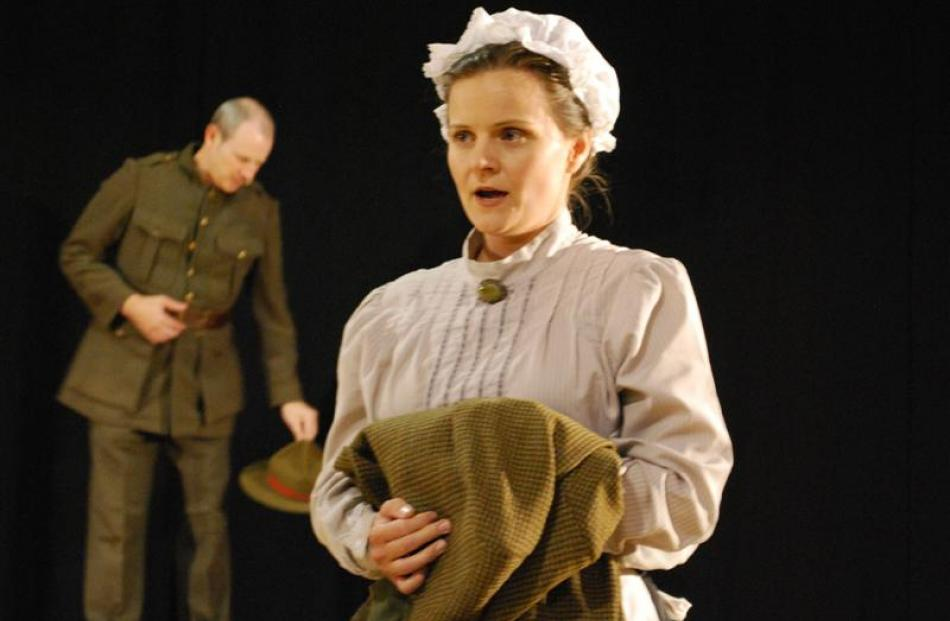 Maggie (Rowena Simpson) and Johnnie (Stuart Coats) star as Scottish immigrants confronted by...