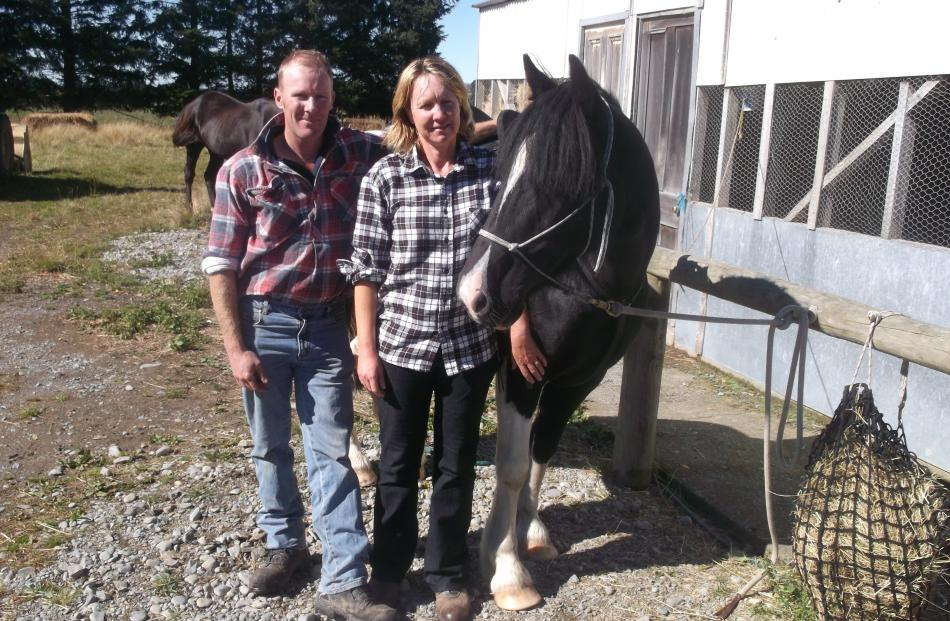 Malvern A&P Show president Paul Wright and his wife Nancy, with their horse Maggie May, say they...