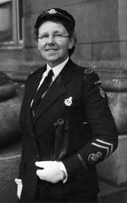 Margaret Brenda Bell in Voluntary Aid Detachment uniform, circa October 1945. PHOTO: NATIONAL...